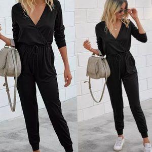 Comfiest Black Jumpsuit long sleeves